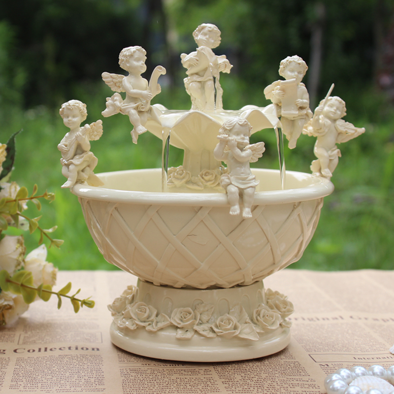 Fashion decoration feng shui decoration round fountain home decoration accessories wedding gift j765(China (Mainland))