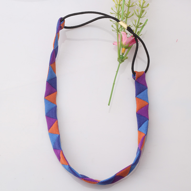 Fashion Ladies Headbands Women Hair Accessorie For Dress Girls Triangle Rubber Hairbands Female Elastic Hair Bands(China (Mainland))