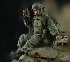 Scale Models 1/35 Modern Russians D Resin Model Free Shipping(China (Mainland))