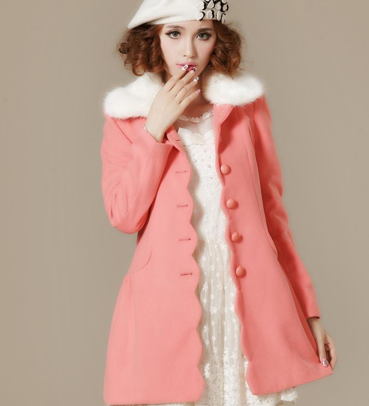 Online Get Cheap Long Light Pink Wool Coat -Aliexpress.com