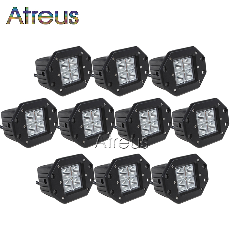 10pcs 3 inch CREE 16W High power 4x 4W LED Work Light 12V 1600LM Spot For ATV Truck 4x4 OffRoad Motorcycle Car Driving Fog Lamp(China (Mainland))