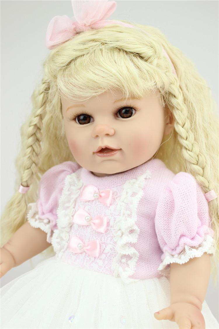 NPK 16 inch soft silicone  American Girl Dolls baby reborn Hobbies Baby Alive Doll For Girls Toys boneca reborn