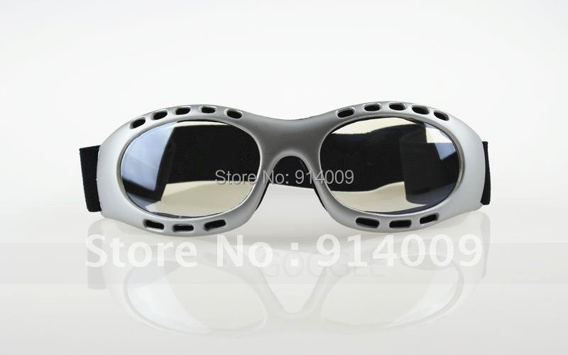 Motorcycle Scooter Mopeds Vespa Racing Sport Goggles Clear Lens Silver frame(China (Mainland))