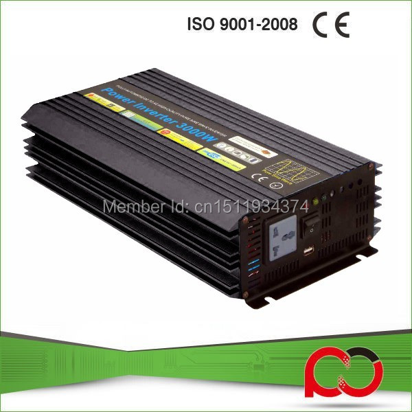 3000W Solar Wind Power System Inverter 12V 24VDC to AC230V or 230V with 6000W Surge Power,Pure Sine Wave 3000W off grid Inverter(China (Mainland))