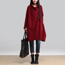 2015 new autumn winter ladies cotton linen dress Dresses temperament elegant Vintage female casual xxl plus size women clothing(China (Mainland))