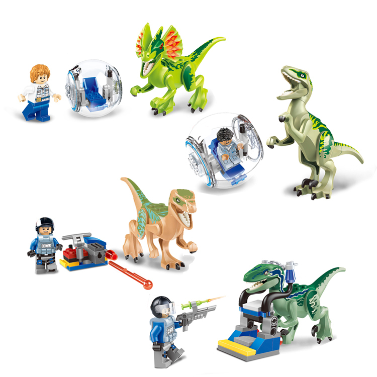 Jurassic World Jurassic park movie Minifigures Building Blocks Set Super Heroes Star Wars Bricks Toys LELE 79086 Lego Compatible(China (Mainland))