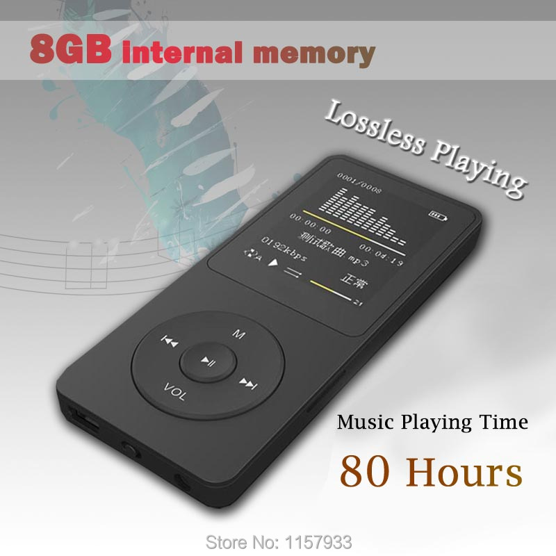 "New real 8GB 80 Hours Music playing lossless MP4 player 1.8"" TFT screen MP4 with E-book video photo Music FM radio Clock Data(China (Mainland))"