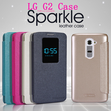 Buy NILLKIN Sparkle LEATHER Case LG G2 D802 Retailed Package for $7.08 in AliExpress store