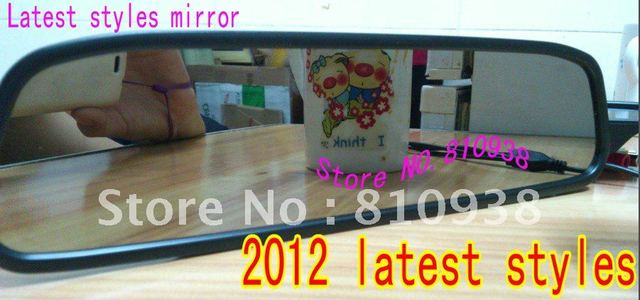 2012 latest styles 4.3' Rear View Car Mirror Monitor Univeral Color TFT Display Screen/high definition drop shipping
