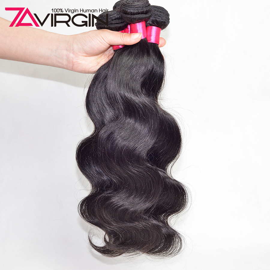 7A Peruvian Virgin Hair With Closure 3 Bundles Peerless Peruvian Body Wave With Closure Weaves Human Hair Bundles With Closure