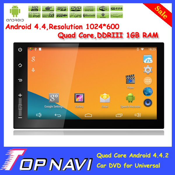 Top Newsmy DDRIII 1GB/2GB RAM Quad Core Android 4.4 Car Dvd For Universal (Without DVD,With bluetooth,NU3001) With Gift(China (Mainland))
