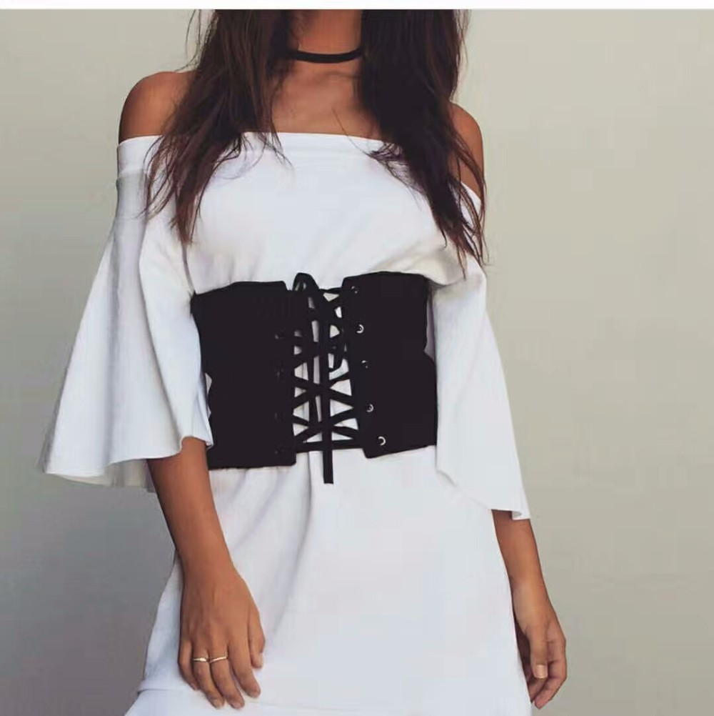 Белое Платье С Черным Корсетом