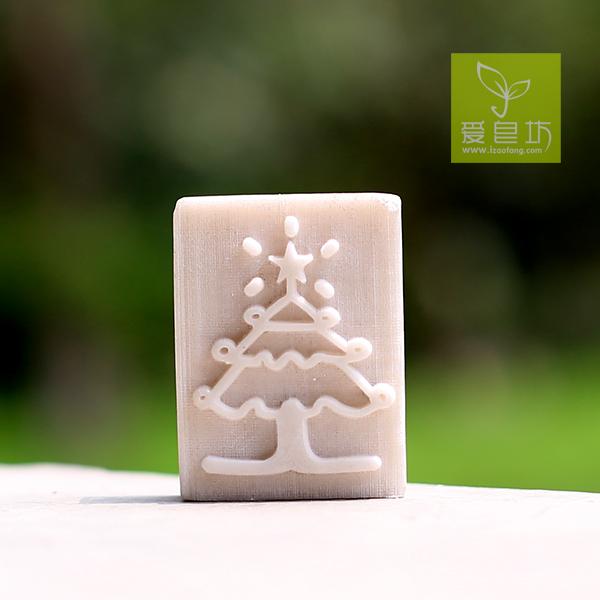 New resin seal Christmas tree soap chapter DIY hand soap(China (Mainland))