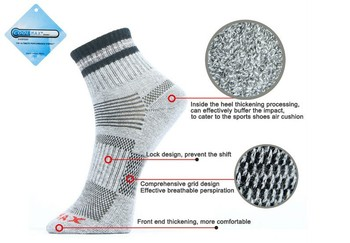Унисекс тепловой бег зима тёплый спорт носки мужские и женские на открытом воздухе ...