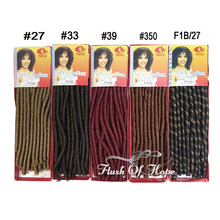"10 Packs/lot Nina Soft Dred Afro Marley Twist Crochet Synthetic Hair Bulk Ombre Hair Braid Extensions 100 gram 40"" Color 27 #1(China (Mainland))"