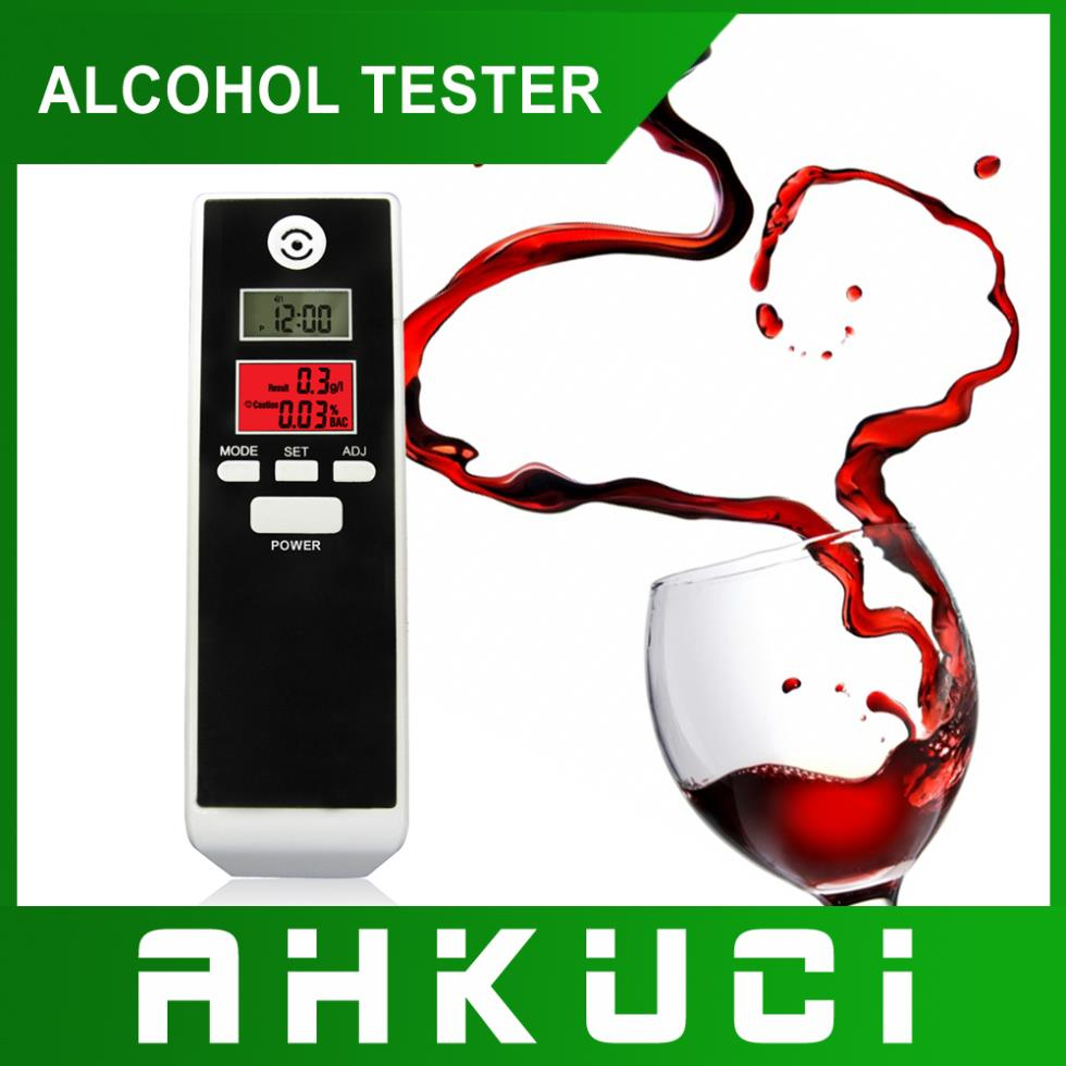 Free shipping Drop shipping Prefessional Police Digital Breath Alcohol Tester Breathalyzer with red backlight(China (Mainland))