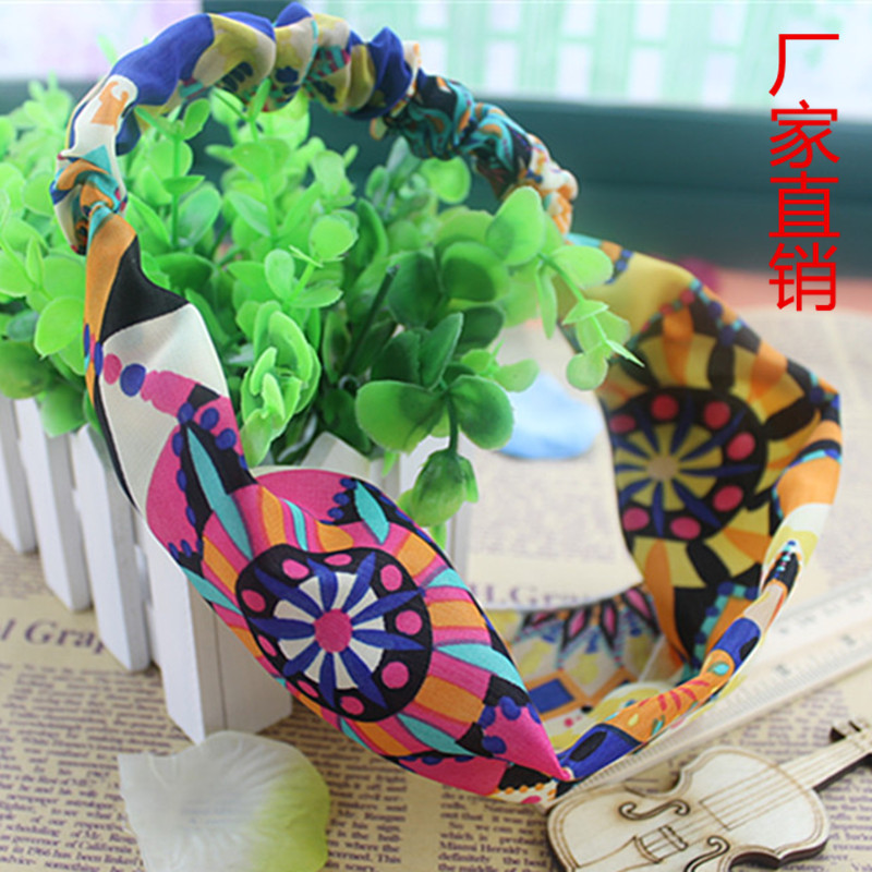 2015Factory Wholesale Beach big sun flower broad-brimmed cloth hair accessories headband To Be Customized(China (Mainland))