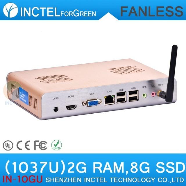 Fanless Mini PC with Intel Celeron dual-core C1037U 1.8GHz HD Graphics L3 2MB NM70 Chipset