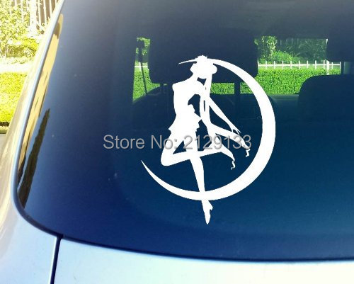 "Sailor Moon Anime Vinyl Die Cut Decal Car Bumper Windows Sticker 6"" White(China (Mainland))"