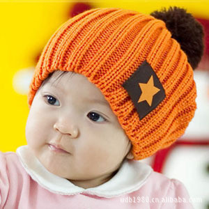 vogue knit baby beanie kids winter hat skull Baggy caps for 0-4 years old baby,chapeu infantil,gorros touca turbante toca bonnet(China (Mainland))