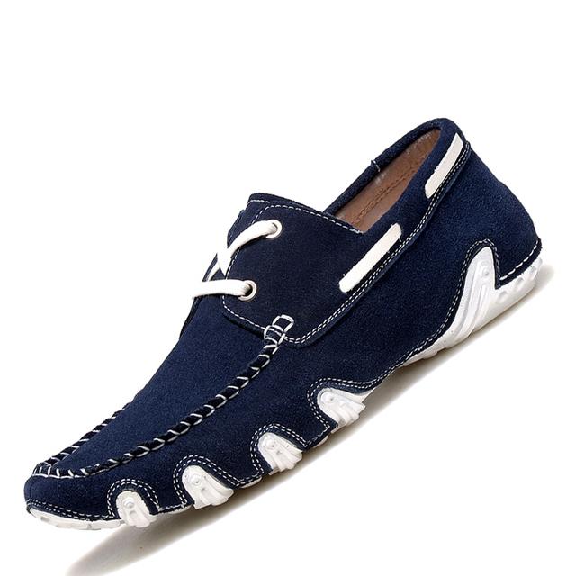 Высокое качество мужчины мокасины корейской версии натуральная кожа обувь для вождения ...