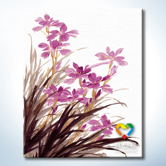 - cherry colored drawing diy digital oil painting - flower 40 50