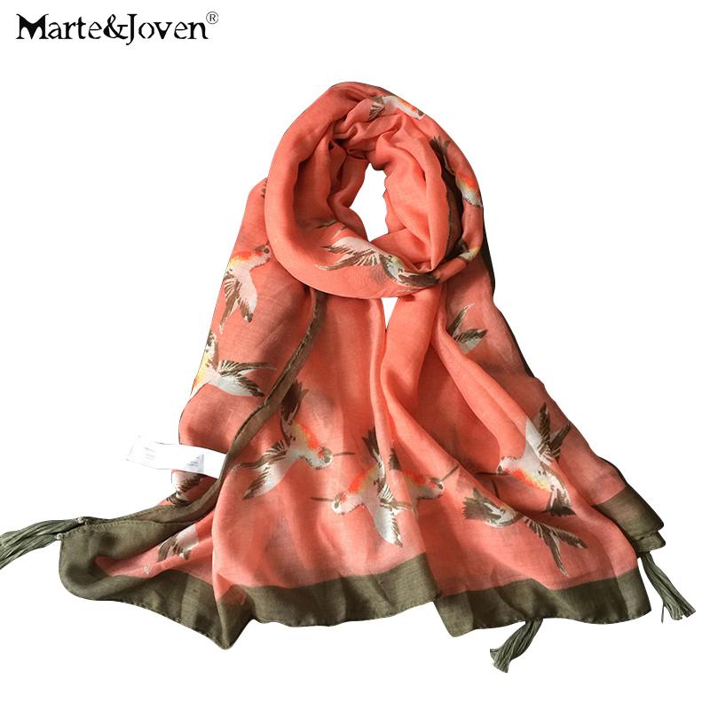New Brand Pure Cotton Women Scarves Cute animal Bird Print Long Scarfs Outdoor Sports Sun-protecting Shawls Ladies foulard(China (Mainland))