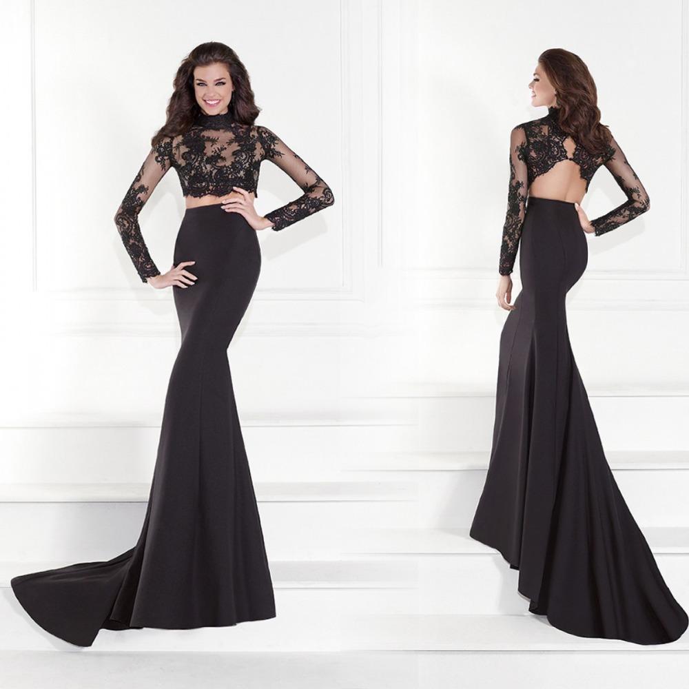 Long Sleeves Mermaid Dress Long Sleeve Prom Dresses