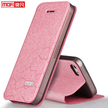 mofi original for iphone 5s girl leather flip cover SE ultra thin silicon leather case cover for iphone 5 5S accessories luxury(China (Mainland))