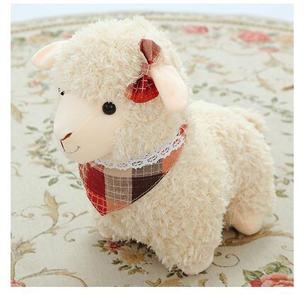 lovely new creative plush beige sheep toy happy scraf sheep doll about 50cm<br><br>Aliexpress