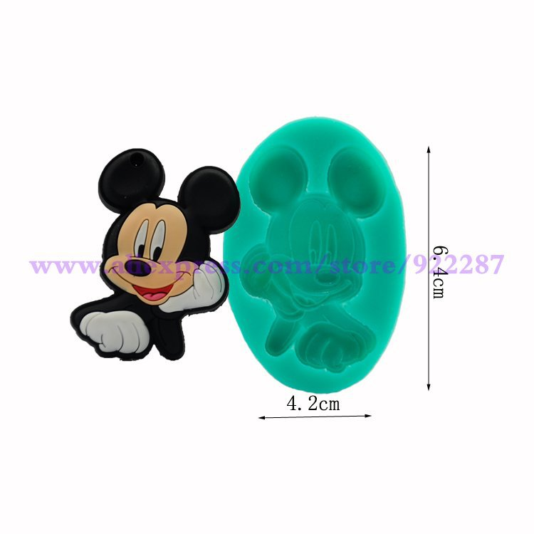 mickey form chocolate mold silicone candy bar sugarcraft cake decorating fondant moulds form for cake decorations(China (Mainland))