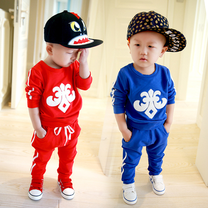 Baby boy tracksuit 2015 autumn fashion new Korean kids ...