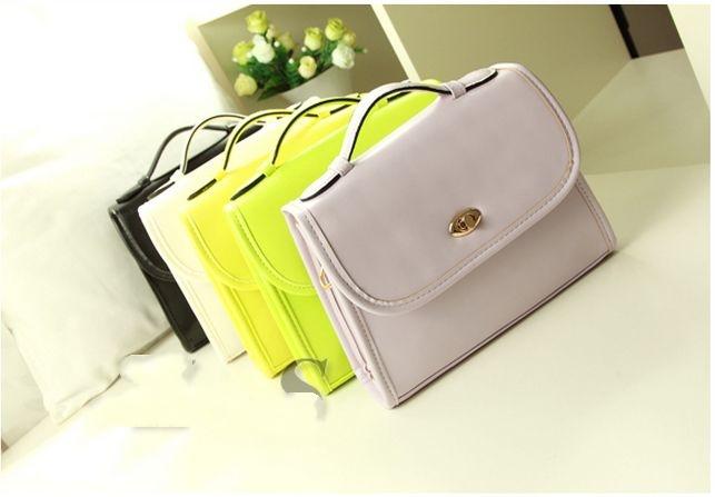 2015 New lady and girls fashion vintage PU leather candy color portable handbags shoulder messenger bag women bolsas femininas<br><br>Aliexpress