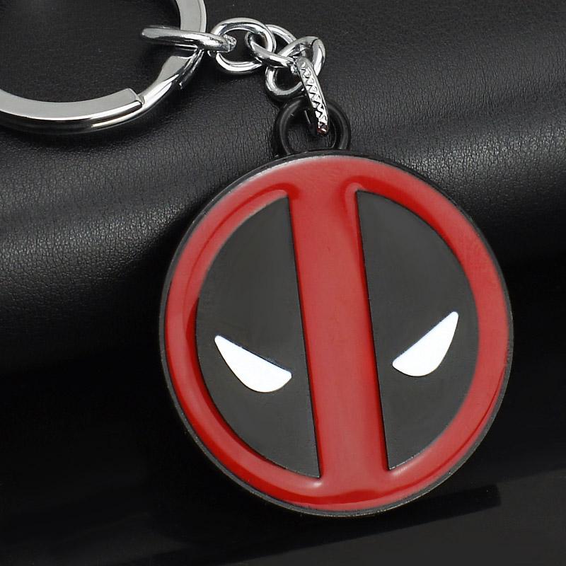MARVEL Comics Superman X MEN Deadpool Hero Stainless Steel KeyRings Keychains Purse Bag Buckle Best Gift key chains holder K100(China (Mainland))