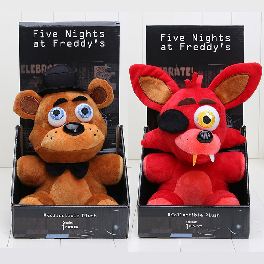 New Game Five Nights At Freddy's 4 FNAF Freddy Fazbear Bear foxy Plush Toys Doll 25CM Soft Stuffed Toys Children Cute Toys(China (Mainland))