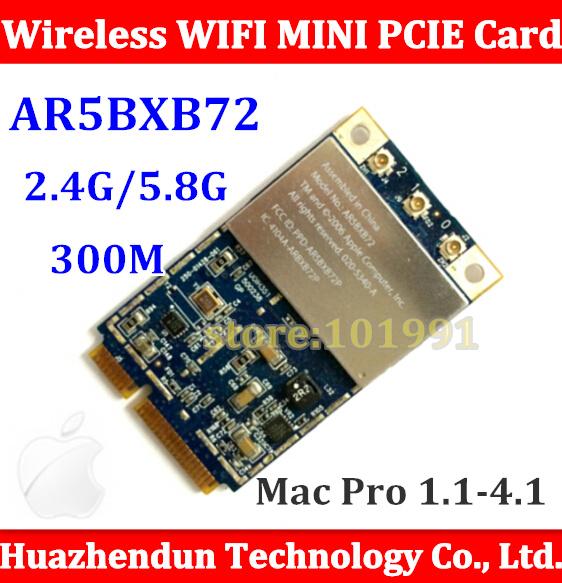 Original Mac Pro Atheros AR5008 AR5418 AR5BXB72 802.11 a/b/g/n Wifi Wireless Mini PCI-E Card for ALL Mac Machine A1186 MA970(China (Mainland))