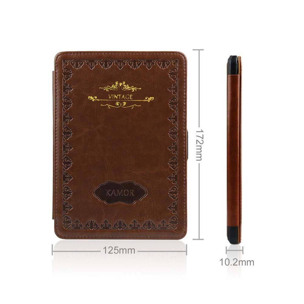 High quality leather smart Vintage Style book cover for amazon kindle paperwhite1 2 3 2015 2014 2013 2012 case pouch sleeve(China (Mainland))