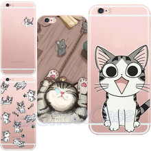 Cute Lovely Cat Mouse Red Heart Love Plastic Phone Case iphone 5 5s se 6 6s Plus Hard PC Fundas Thin Shells - EXCHO store