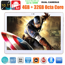"""10.1"""" Google Android 5.1 Octa Core Tablet PC 4GB RAM 32GB ROM Bluetooth GPS 3G Phone Tablet PC IPS HD Capacitive Touch+Gifts(China (Mainland))"""