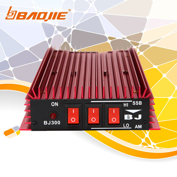 protabel mini size amplifier for cb radio 3-30MHz 27MHz BJ-300 HF linear power output(China (Mainland))