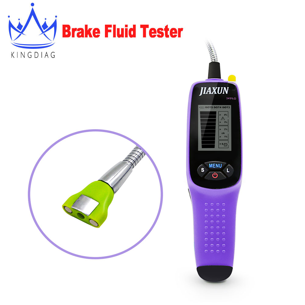 Jiaxun 3451L brake fluid tester digital brake fluid inspection tester with LED lights and large screen display(China (Mainland))