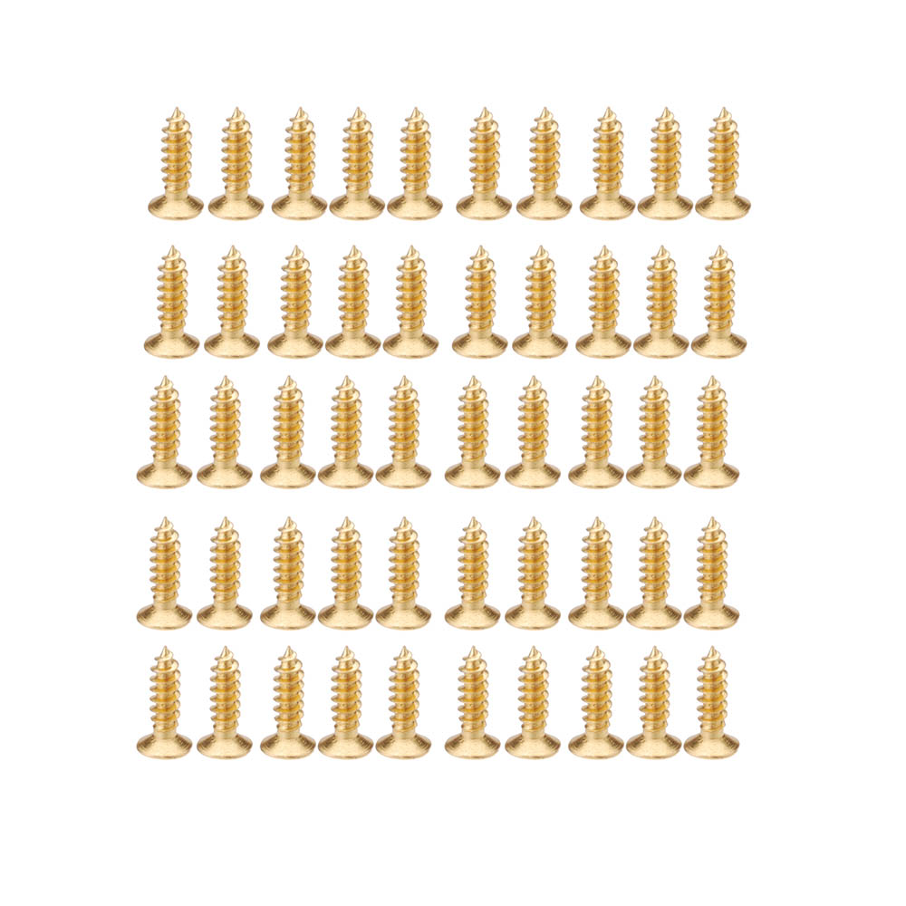Professional 3mm Screws for Guitar Pickguard Scratch Plate Gold Plating Design Guitar Parts & Accessories 50pcs/set(China (Mainland))