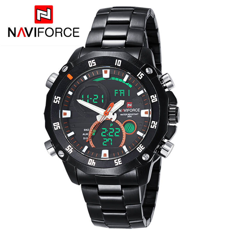 NAVIFORCE Watches Luxury Brand Men's Quartz Hour Analog Digital LED Sports Watch Men Army Military Wrist Watch Relogio Masculino(China (Mainland))