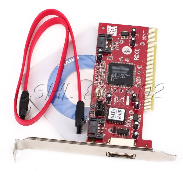 PCI IDE Controller SATA Extended Card 3-Port + SATA Cable for Laptop PC(China (Mainland))
