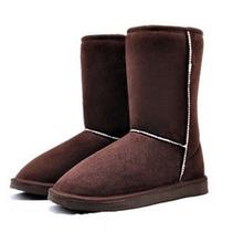 HEE GRAN Nuevo 2016 Mujeres de Invierno Botas de Nieve Mujeres 6 Solid colores de Invierno Cálido Algodón Botas Zapatos Euro Tamaño Envío de La Gota XWX273(China (Mainland))