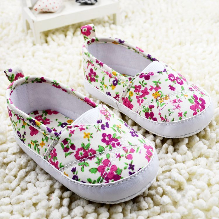 Fashion Chic Girl Slip-On Sneaker Toddler Kid Comfy Polka Dots Baby Shoes 0-12 M  -  Mall-1048360 store