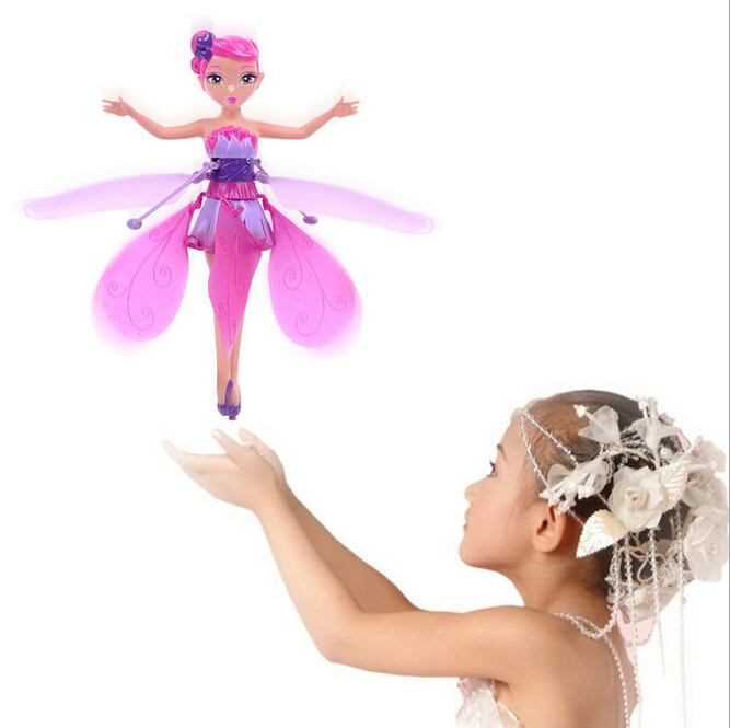 2015 New DIY Flying Fairy Dolls Learning & Education Infrared Induction Control Flying Angel Doll Baby toys for girls(China (Mainland))