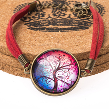 Hot selling Life tree Glass Cabochon bracelets fashion Bangles European and American vintage jewelry free shipping YP1642-YP1651(China (Mainland))