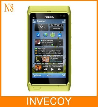 N8 Original Nokia N8 unlocked Phone 3G GPS WIFI 12MP Capacitive Touchscreen Internal 16GB freeship