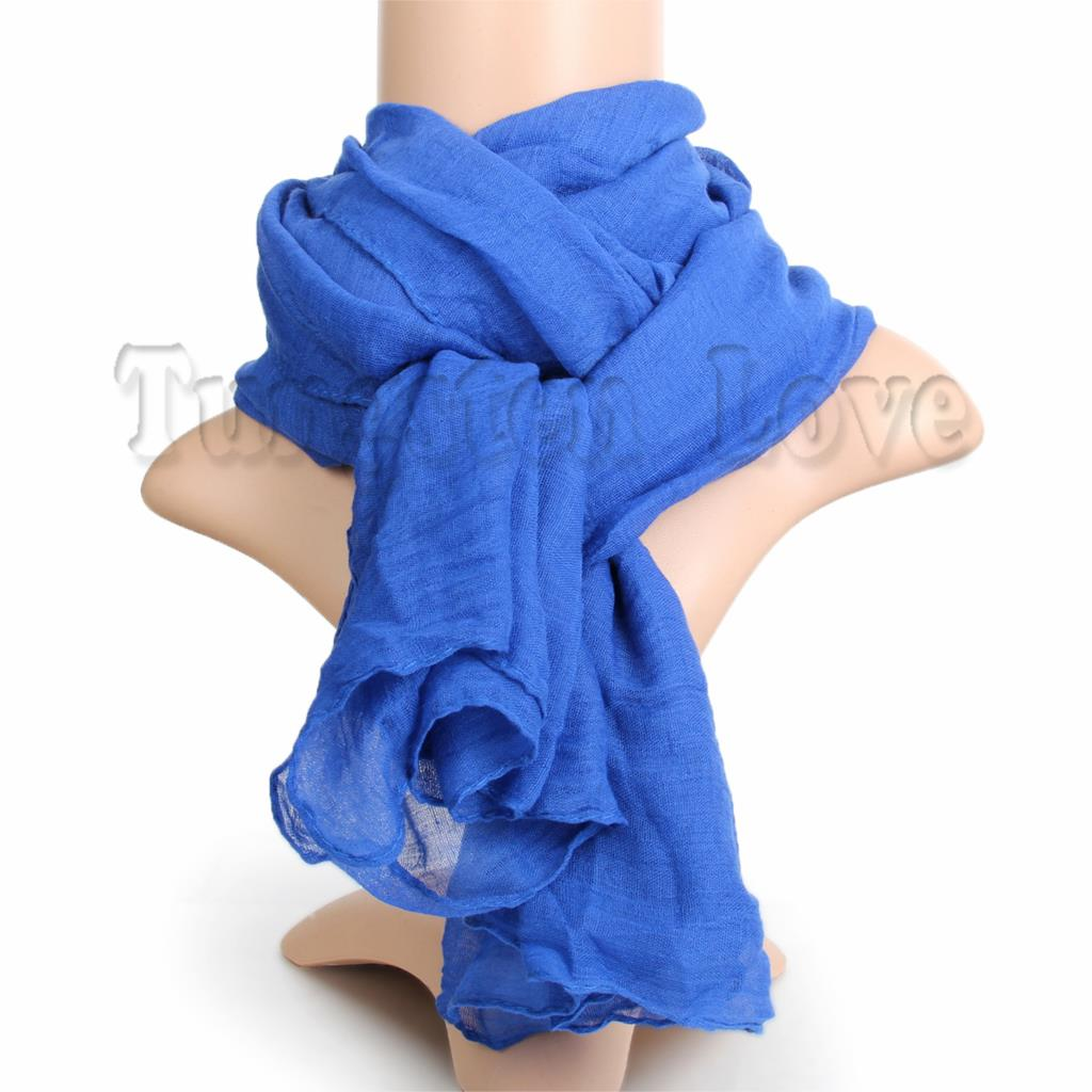 178cm*92cm Fashion Vintage Women's Cotton And Linen Scarf Winter Cotton Shawl Pashmina Solid Scarves Blue/ Black(China (Mainland))